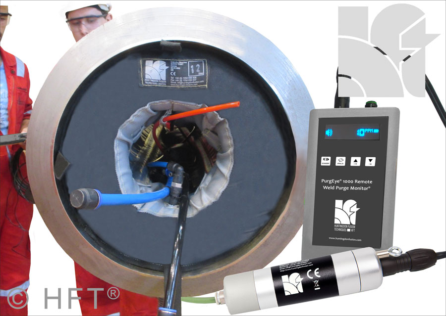 For long distance weld purge monitoring, the PurgEye® 1000 enables operators to read the weld purge gas level from a distance for the first time.