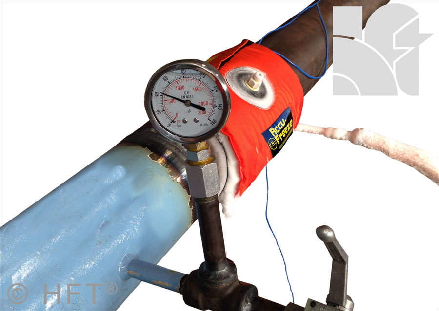 accu-freeze, qwik-freezer, pipe freezing, tube freezing, liquid nitrogen pipe freezing
